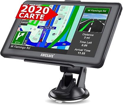 gps voiture 7 pouces syst/ème de navigation /à /écran tactile avec des cartes de 48 pays