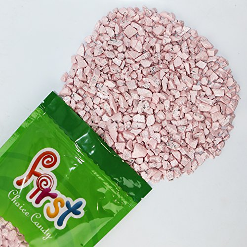 FirstChoiceCandy Pink Sapphire Gemstones Chocolate Rocks Candy Nuggets 1 Pound Resealable Pouch (Pink Nugget)