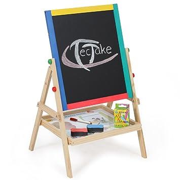 TecTake Pizarra infantil 2 en 1 pizarra para pintar pizarra ...