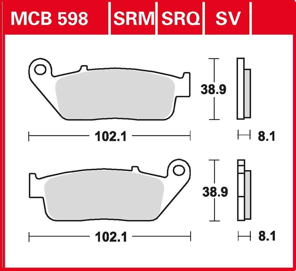 Bremsbelag TRW organischer Allround-Bremsbelag VF 750 C Magna RC43 93-99 vorne