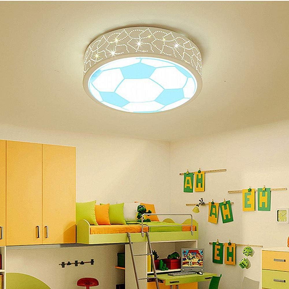 Plafoniera Calcio Lampada da Soffitto di Calcio LED Lampada da soffitto a soffitto per Plafoniera Cameretta Bambini Bambini Cartoon Protezione degli Occhi Illuminazione Plafoniera Regolabile Blu