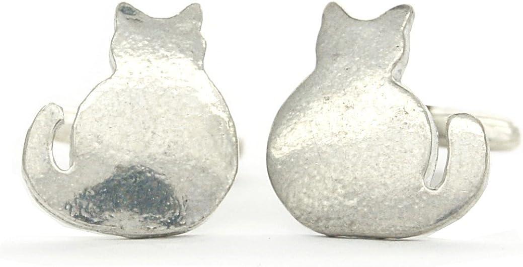 Gemelos de Peltre Gato de UNE Bruja, Hecho a Mano por William Sturt en Francia