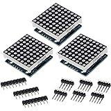 HiLetgo 3pcs MAX7219 8x8 Dot Matrix LED Display Module 5V MCU Control MAX7219 88 LED Dot Matrix DIY Kit