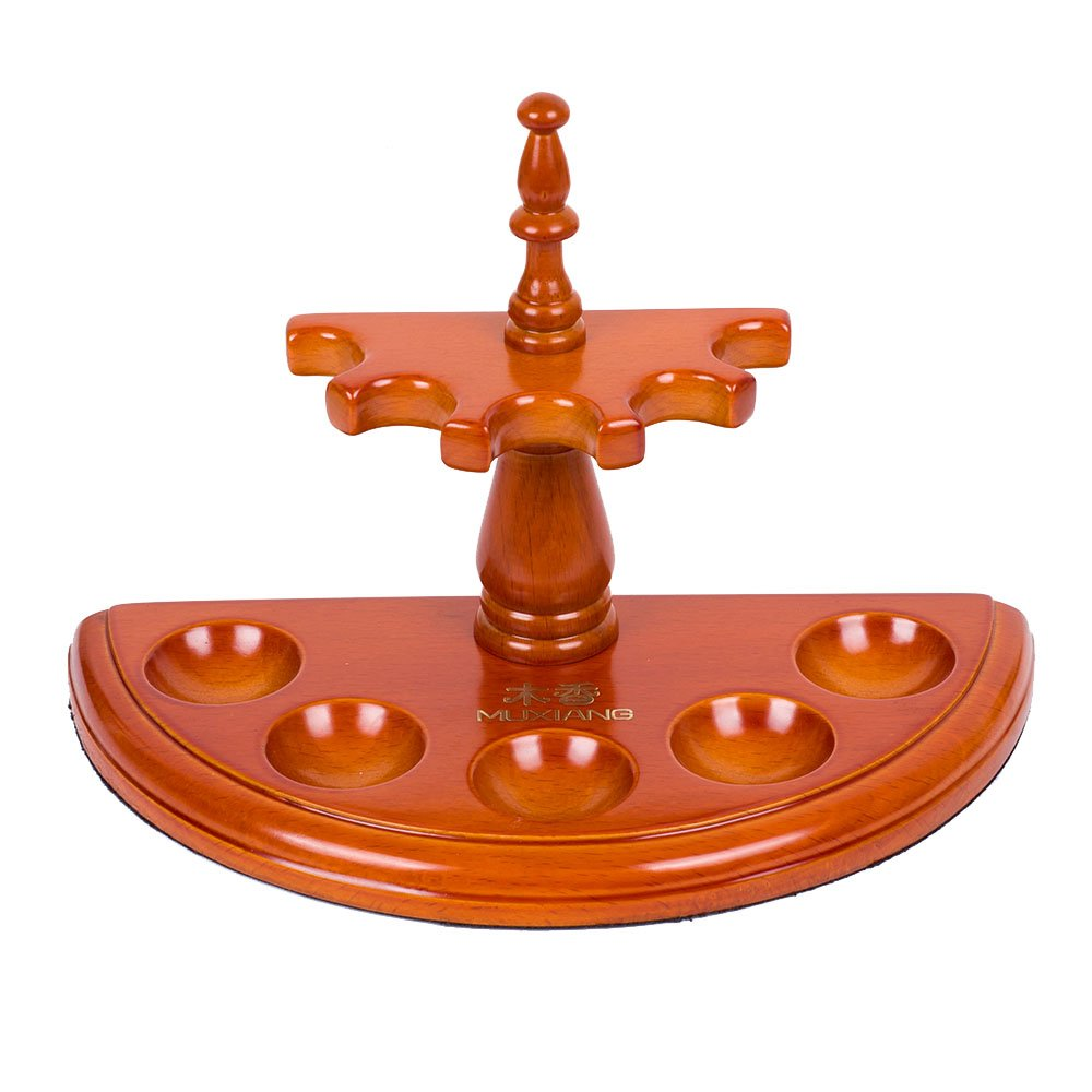 New Rosewood Wooden Smoking Pipe Stand Rack Holder for 5 Smoking Pipes