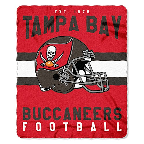 NFL Tampa Bay Buccaneers Singular Printed Fleece Throw, Red, 50
