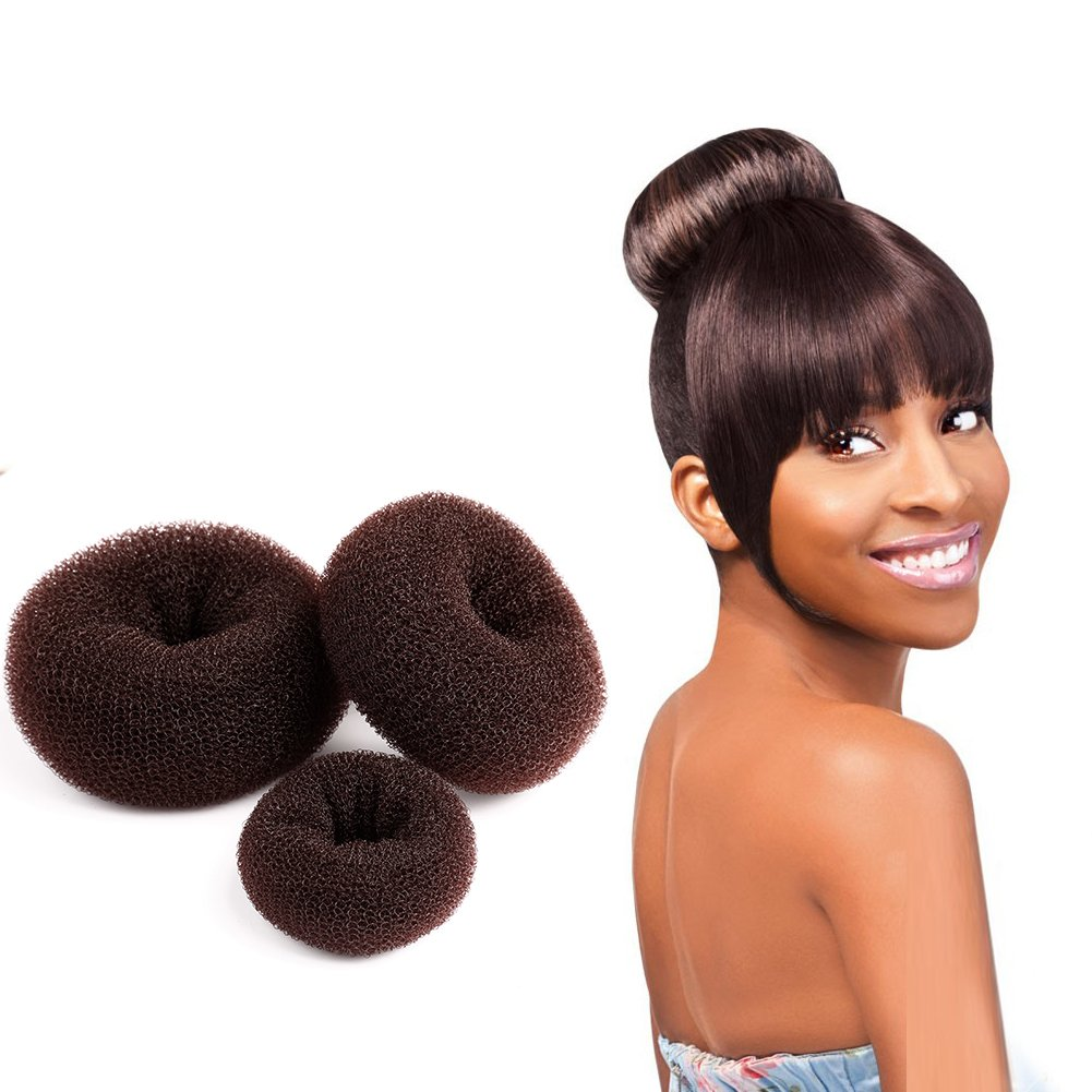 Easy DIY Hair Donut Bun Maker Blonde for Women Girls Kids Chignon Hairstyles (1 Set Small, Medium and Large) by Bella Hair Ltd.