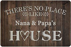 MyPupSocks Custom Door Mats Outside There's No Place Like House Personalized Door Mat Text Name
