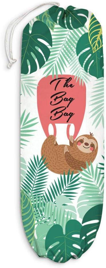 Sloth Plastic Bag Holder, Animal Leaves Grocery Shopping Bags Carrier Storage Organizer Dispenser, Home Kitchen Bathroom Farmhouse Decor, Sloth Gift for Men, Women, Girls, Housewarming, Christmas