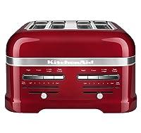 7. KitchenAid KMT4203CA Candy Apple Red 4-Slice Pro Line Toaster