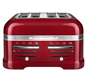 KitchenAid KMT4203CA Candy Apple Red 4 Slice Pro Line Toaster