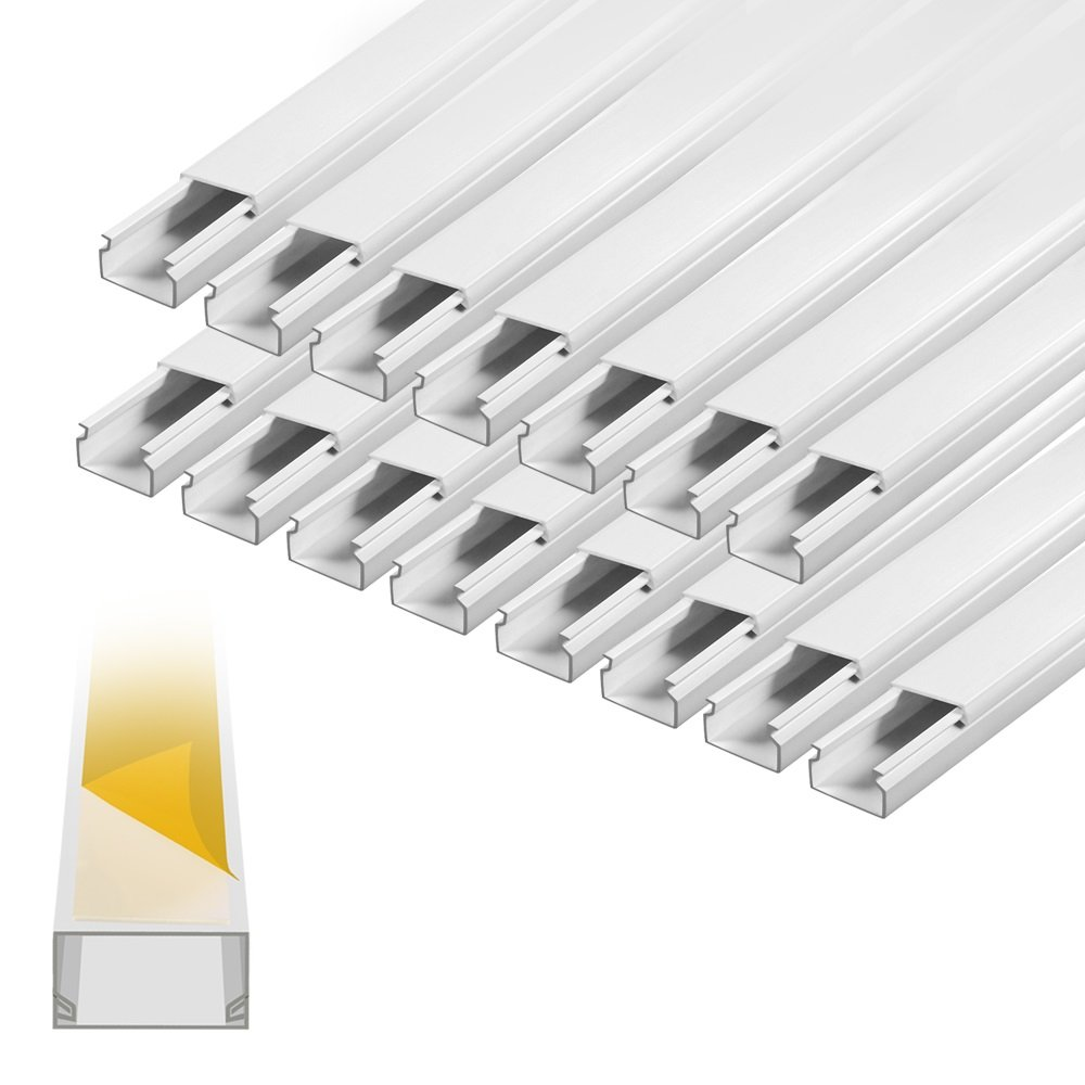 ARLI Kabelkanal selbstklebend 15x10mm PVC 30m Installationskanal ...