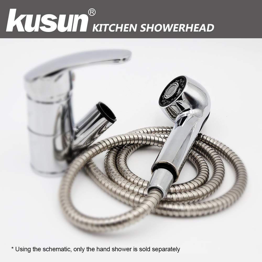 Kusun/® 30/% di Acqua Risparmio Showerhead Plus Filtro ionico Soffione doccetta Testa con Pressione Turbo 200/% e la filtrazione di Palla di energia per Il Fissaggio della Pelle /& Capelli secchi HS001