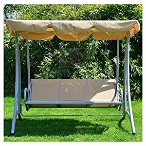 Outdoor Loveseat With Canopy 3 Person Swing Seat Patio Hammock Furniture Bench Yard - Skroutz