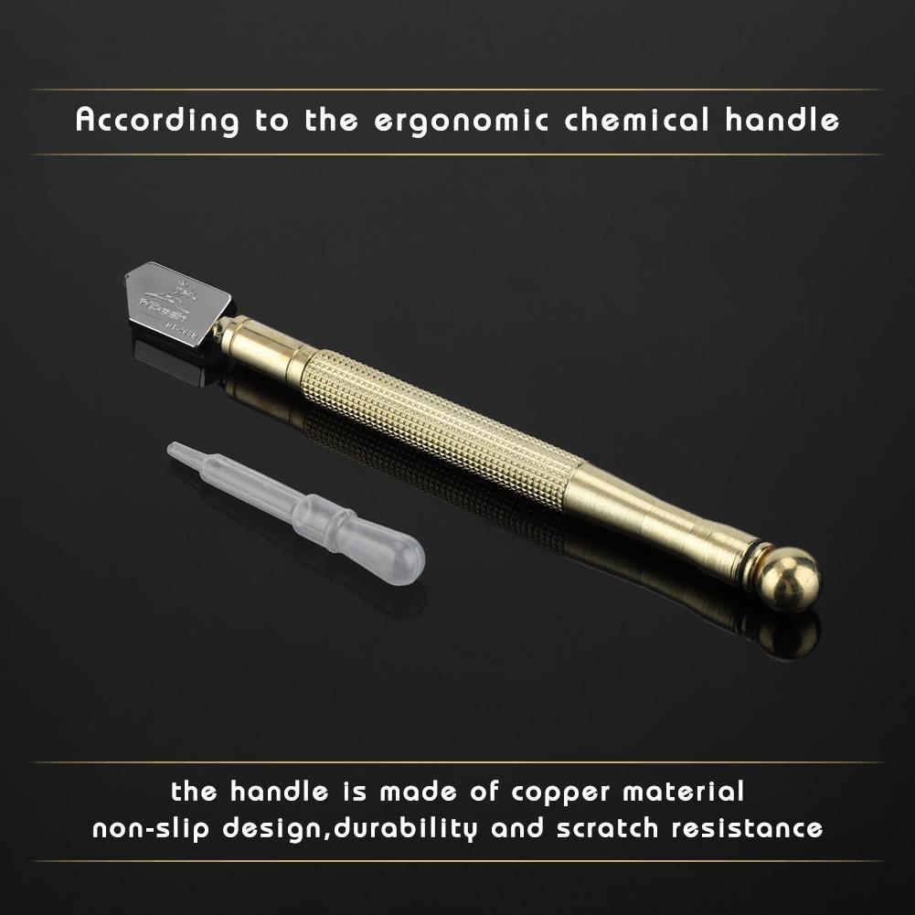 Verre Cover Up en c/éramique Incision carrelage Knifing Colter Poign/ée en m/étal crayon Style Heavy Duty