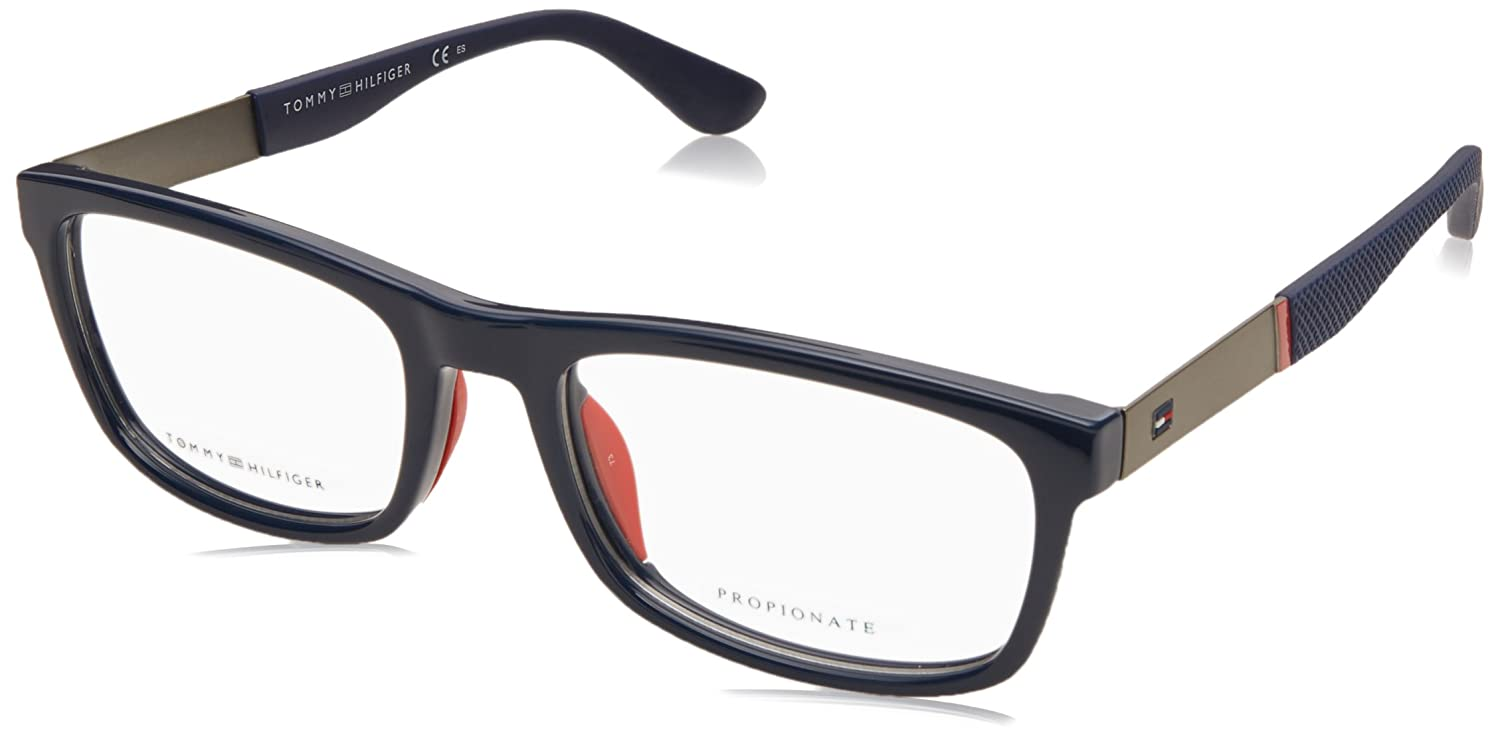 c5ef46f32d2b Tommy Hilfiger frame (TH-1522 PJP) Acetate - Metal Blue - Gun at Amazon  Men's Clothing store:
