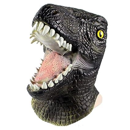 Kays Mascaras de Halloween Máscara De Dinosaurio De Halloween, Máscara De Terror De Látex,