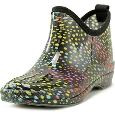 Women's Ankle Rainboots - Patterned Short Booties