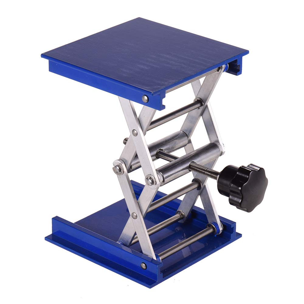 Entweg Aluminum Oxide Lab Jack Stand Table Lift Laboratory Jiffy Jack 4 4 Inch for Chemical Physical Biological Experiment