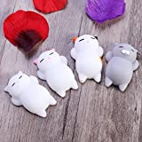 Missely Squishy Cats 4pcs Stress Relief Toys Slow Rising Squishy Toys Party Favors Charm Toy (Cat 4pcs)
