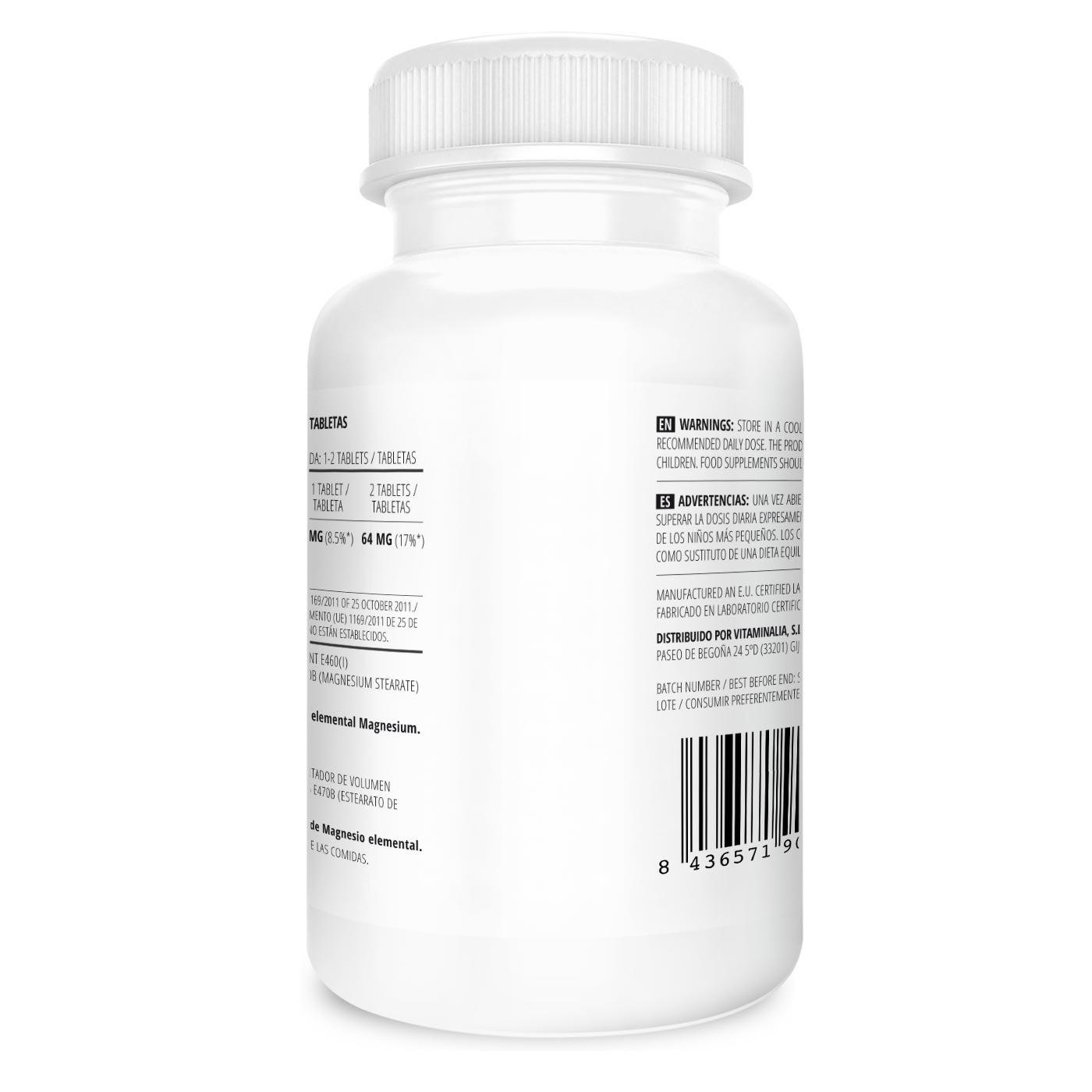 Citrato de Magnesio | Dosis Diaria 200mg (32mg Magnesio Elemental) | Suministro para 6 Meses (180 tabletas) | Apoyo Sistema Nervioso y Articular | Calidad ...
