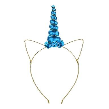 Merroyal Unicorn Headband Cosplay Headwear Unicorn Horn Headpiece Photo Props