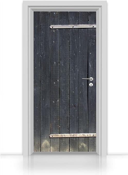 nouvelles variétés bon service comment trouver Mantiburi Papier peint autocollant pour porte Motif porte de ...