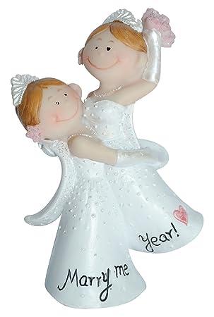 Tortenfigur Mrs Mrs Hochzeitspaar Hochzeitsgeschenke