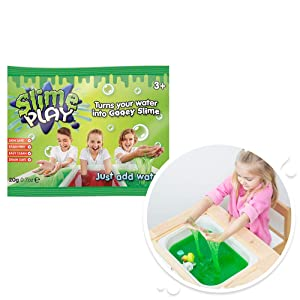 Zimpli Kids 6049 Slime Play Foil Bag Mixed x24, Turn Water into gooey Slime! Children's Sensory & Bath Toy, Certified Biodegradable Toy