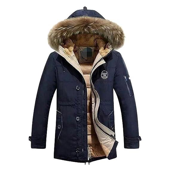 Hibote Chaqueta de Invierno para Hombre Chaqueta de Invierno con Capucha y Abrigo de Piel XS-XL: Amazon.es: Ropa y accesorios
