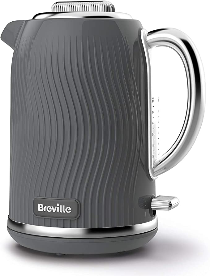 Breville VKT092 Flow Electric Kettle, 1.7 L, 3 KW Fast Boil, Grey