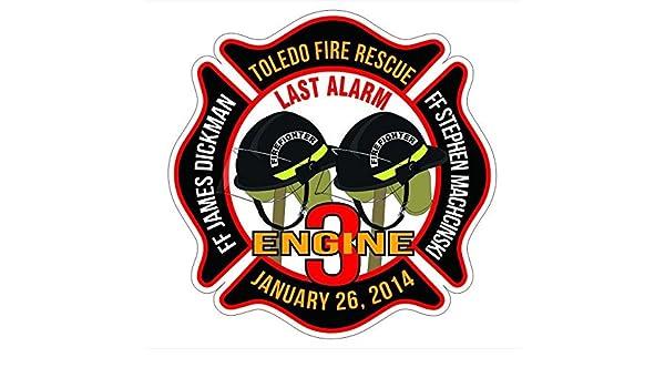 Amazon.com: Toledo Firefighters Memorial Window Decal Vinyl ...