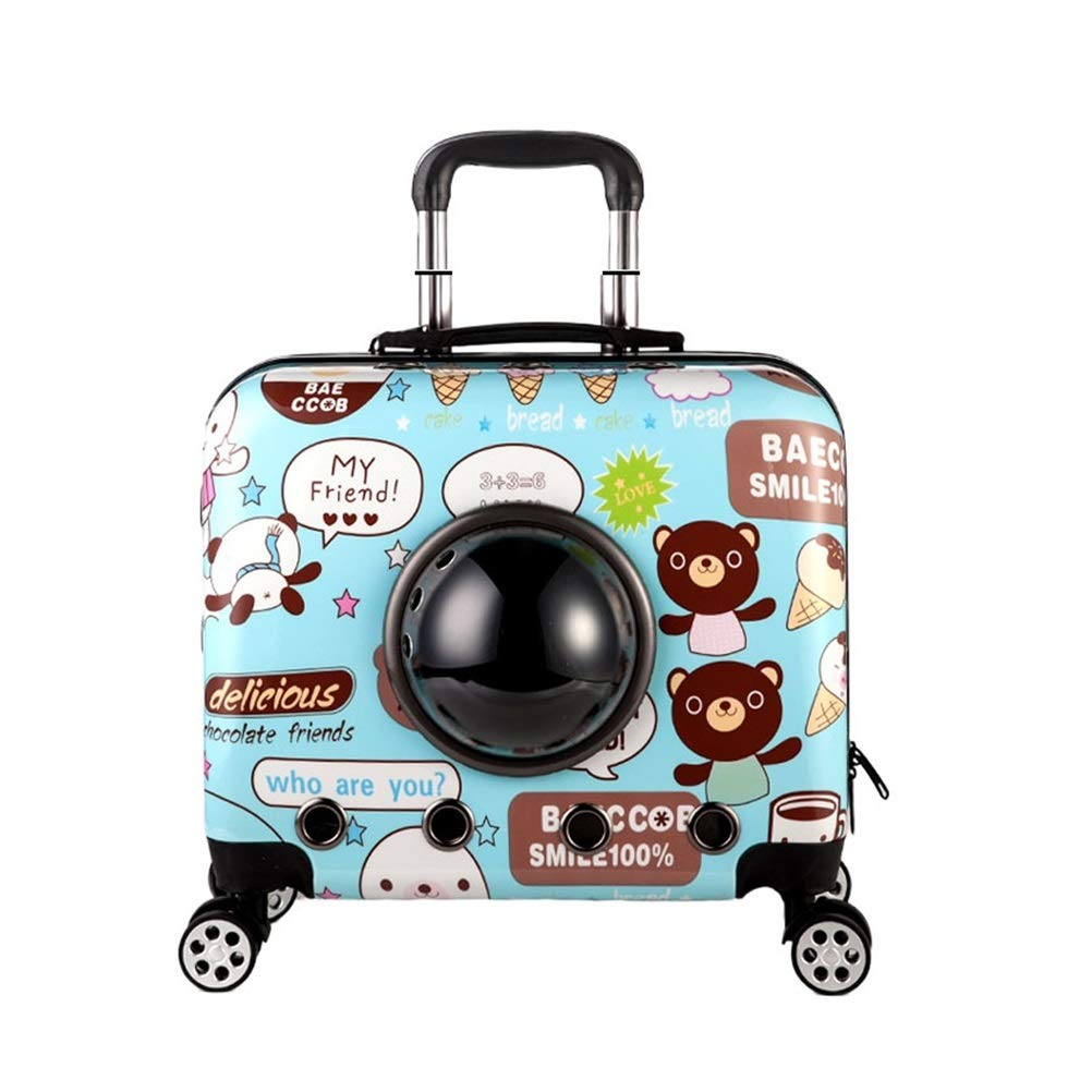 B DIAOSI Chongwubao Pet out of the trolley case dog space box large cat suitcase out of the Teddy air box cat trunk (color   A)