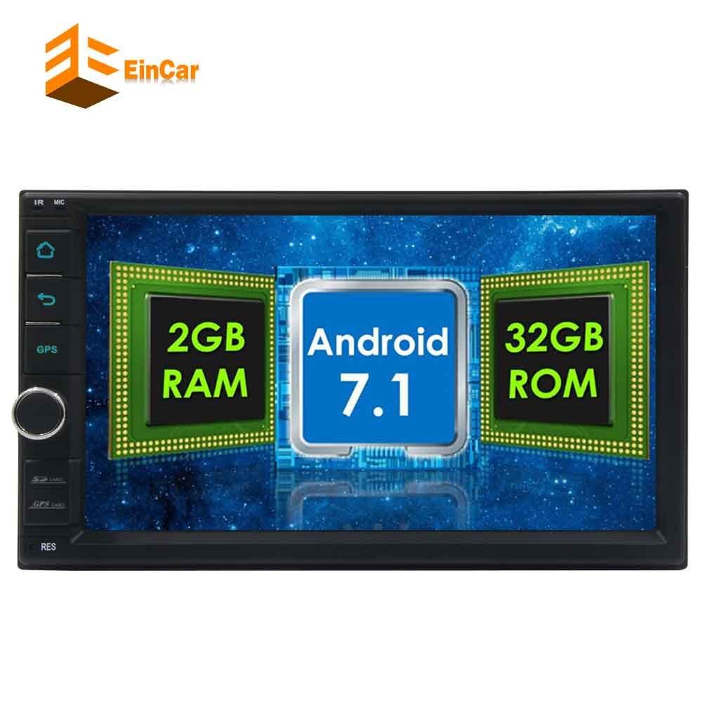 ブルートゥースUSB / SDミラーリンクWifiの4G / 3GとEincarカーステレオ32ギガバイトR0MのAndroid 7.1ヘッドユニットオクタコア2ディン容量性タッチスクリーン車プレーヤーIndash FM RDSラジオ受信機のオートGPSナビゲーション B077M5J73Z