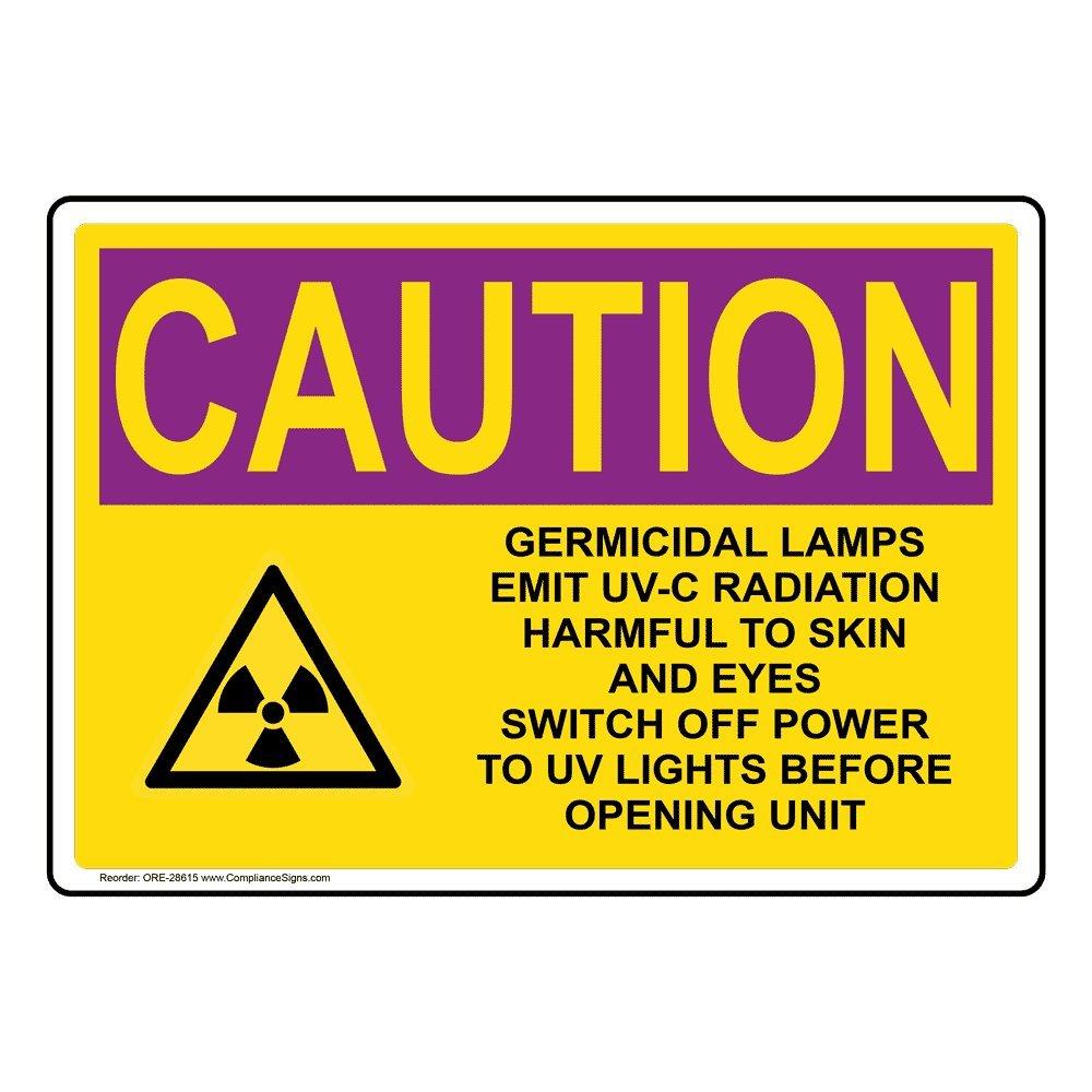 Caution UV Light OSHA Safety  Sign Decal Sticker