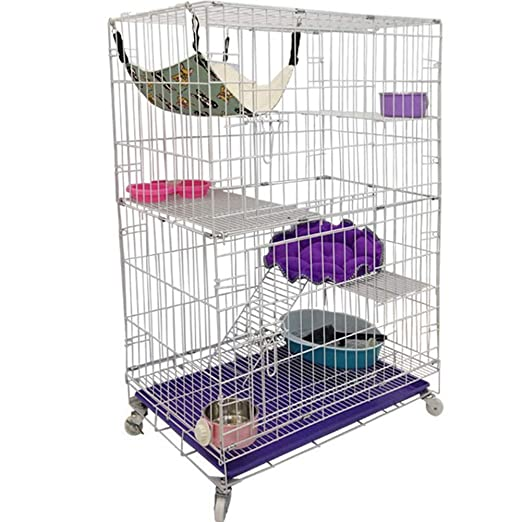 Jaula para gatos - Gato Villa - gatos plegables jaula nido - Cat ...
