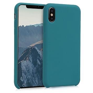 kwmobile Funda para Apple iPhone X - Carcasa de [TPU] para teléfono móvil - Cover [Trasero] en [petróleo]