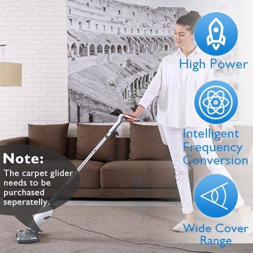 Steam Mop - Steam Cleaner Steam Mops for Floor Cleaning with 7.4 Ounces Tank, Floor Steam Cleaner Steam Floor Cleaner with 19.6FT Cord, 1 Cleaning Pads Included, without Carpet Gilder, 1 Year Warranty