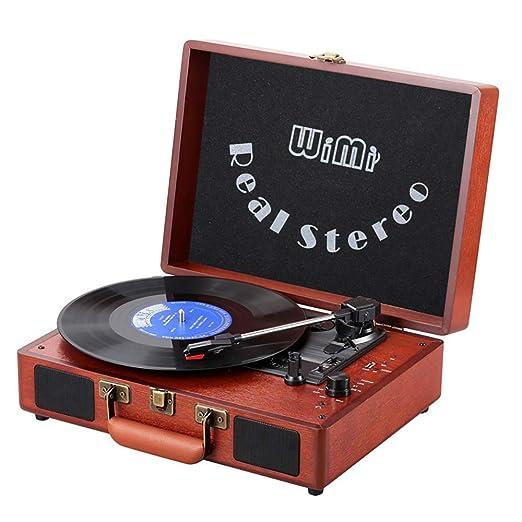 CNRGHS Fonógrafo Vintage, Reproductor De Discos De Vinilo De ...