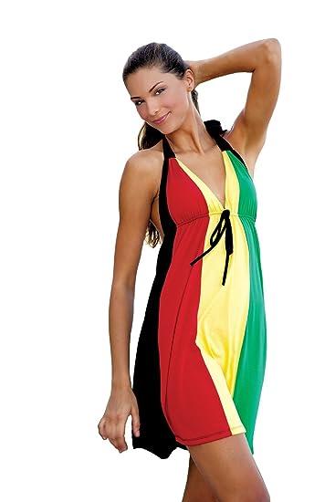 760595fbcc Ingear Rasta 3 Panel B Neck Dress at Amazon Women s Clothing store