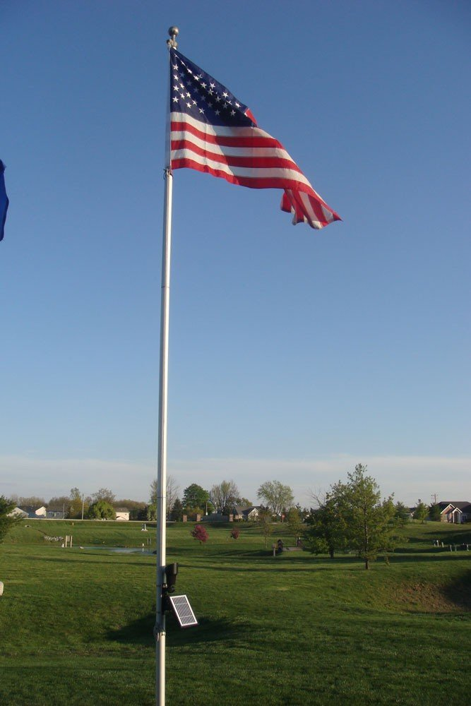 Best Commercial Grade Solar Powered Flag Pole Light Kit Also Comes With Our US Nylon Flag Made by Flags Poles And More by Flags Poles And More (Image #2)