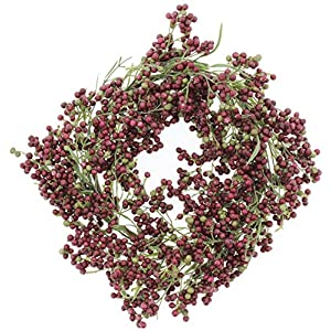 "Impressive Enterprises 14"" Purple Pepperberry Wreath 33"