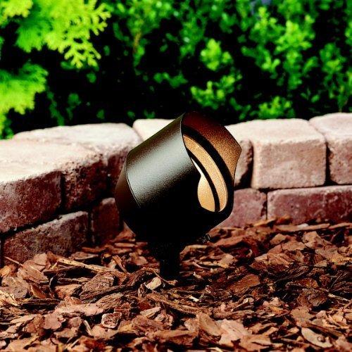 Kichler Lighting 15381AZT6 12-Volt Low Voltage Accent Light with Heat Resistant Flat Glass, Textured Architectural Bronze, 6-Pack by Kichler