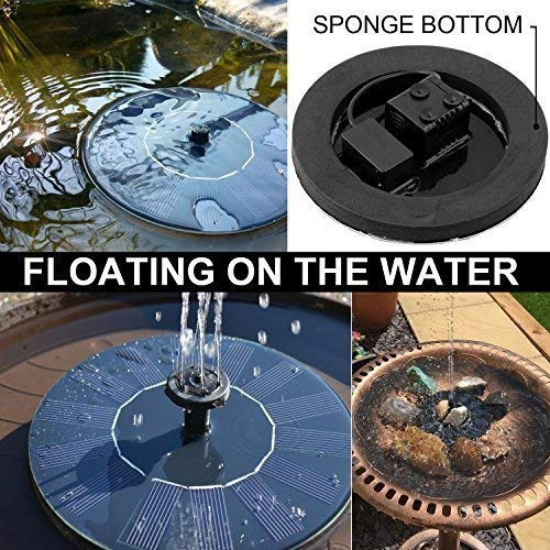 Aurrra Solar Fountain, Solar Fountain Pump 1.4W Solar Panel Kit Water Pump, Pond, Garden, Fish Tank, Outdoor Submersible Pump (2019 New) by Aurrra (Image #5)