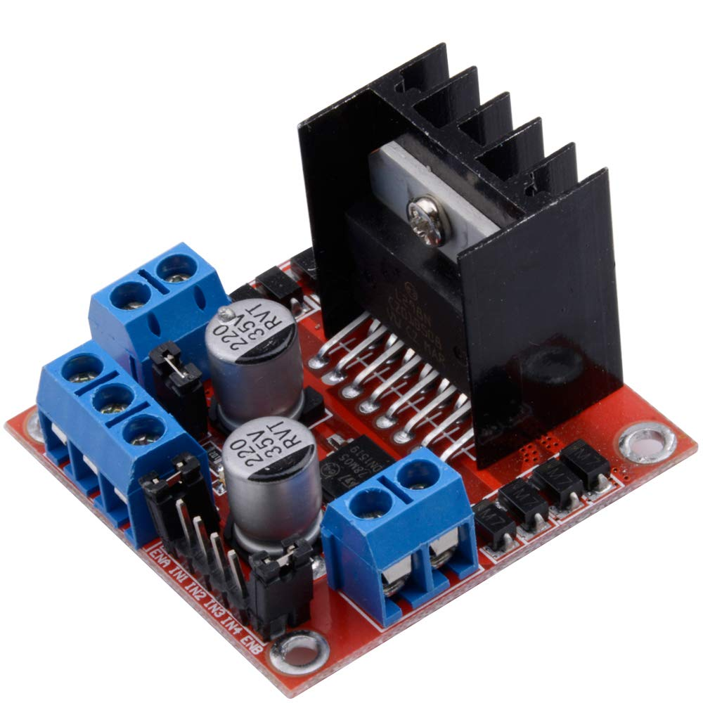 Qunqi L298N Motor Drive Controller Board Module Dual H Bridge DC Stepper  For Arduino