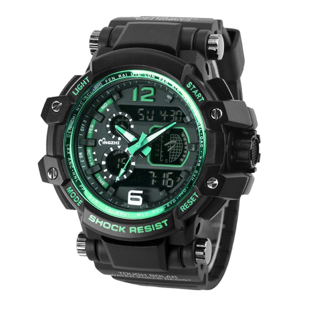 Men's Watches Digital Watches Men Watch Analog Led Digital Date Alarm Waterproof Sport Quartz Wrist Watch Military Men Fashion Casual Electronics Wristwatches Street Price
