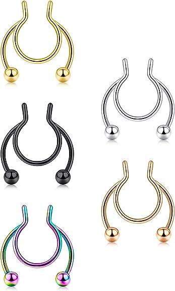 Fake Nose Jewelry-Fake Nose Ring-Nose Ring-Fake Septum Ring-Fake Piercing-Fake Septum-Faux Nose Ring Faux Septum Ring