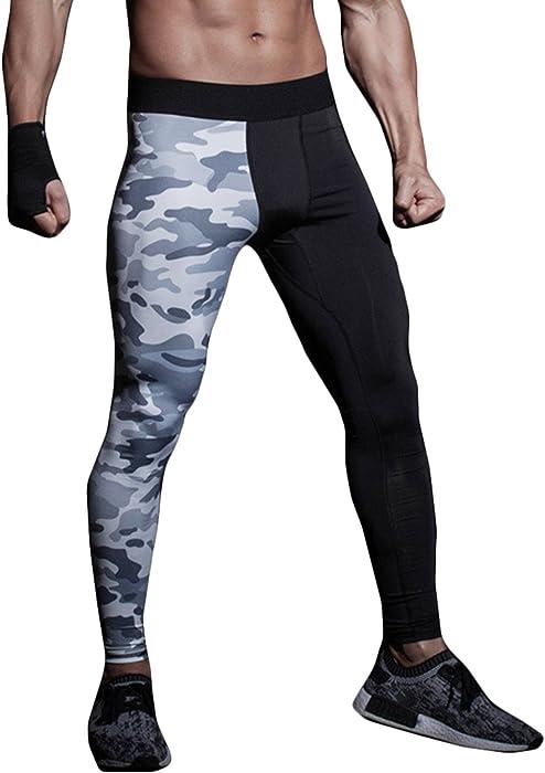 ce881c56c70 Description. SEVENWELL Men s Fashion Irregular Compression Pants Camo ...