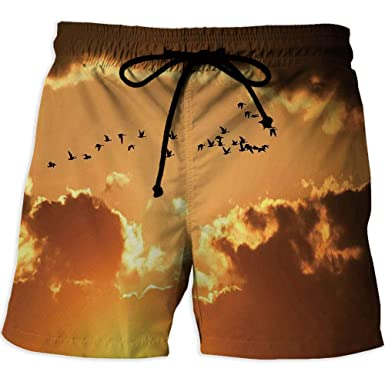 Quick Drying Swim Trunks Board Shorts With Pocket Birthday