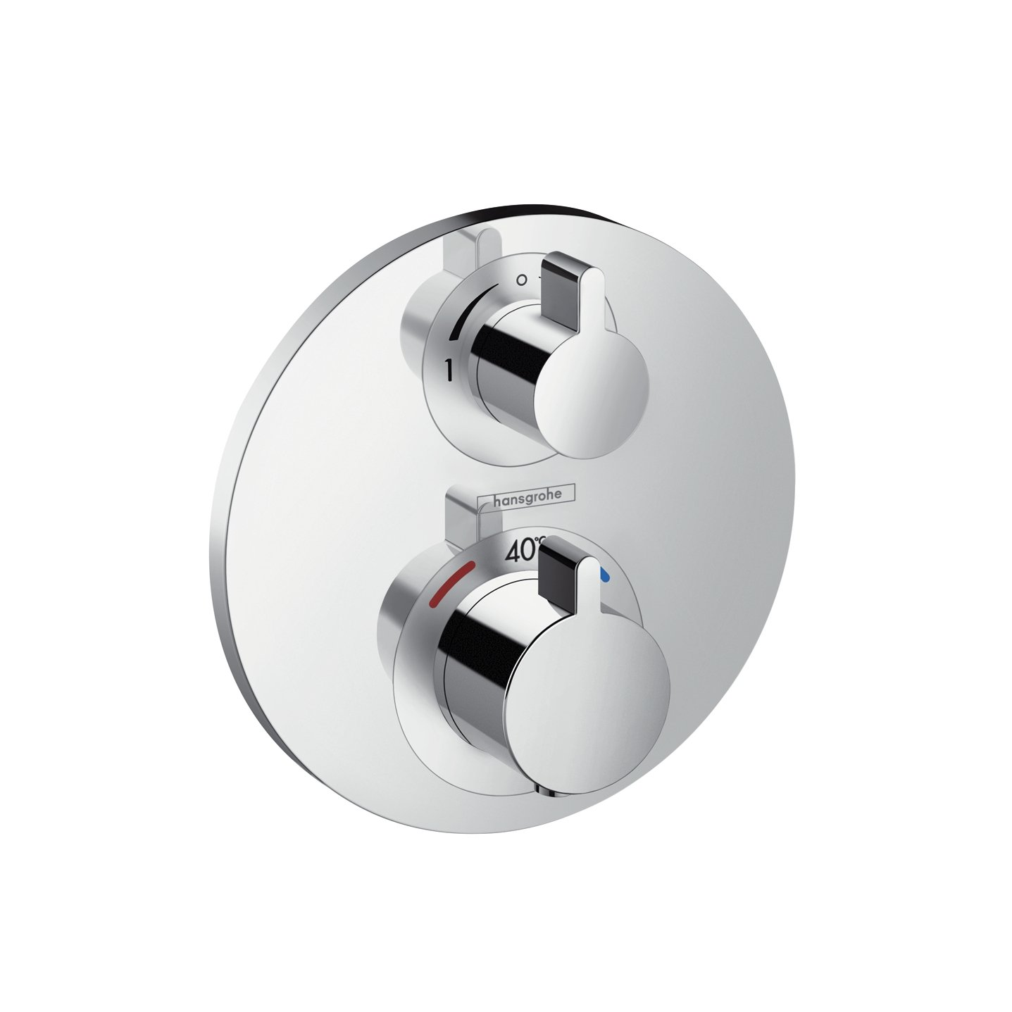 hansgrohe Ecostat S thermostatic mixer for 1 outlet with shut off ...