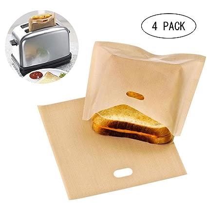Kobwa - Bolsas de tostadora reutilizables, antiadherentes, resistentes al calor, para horno microondas